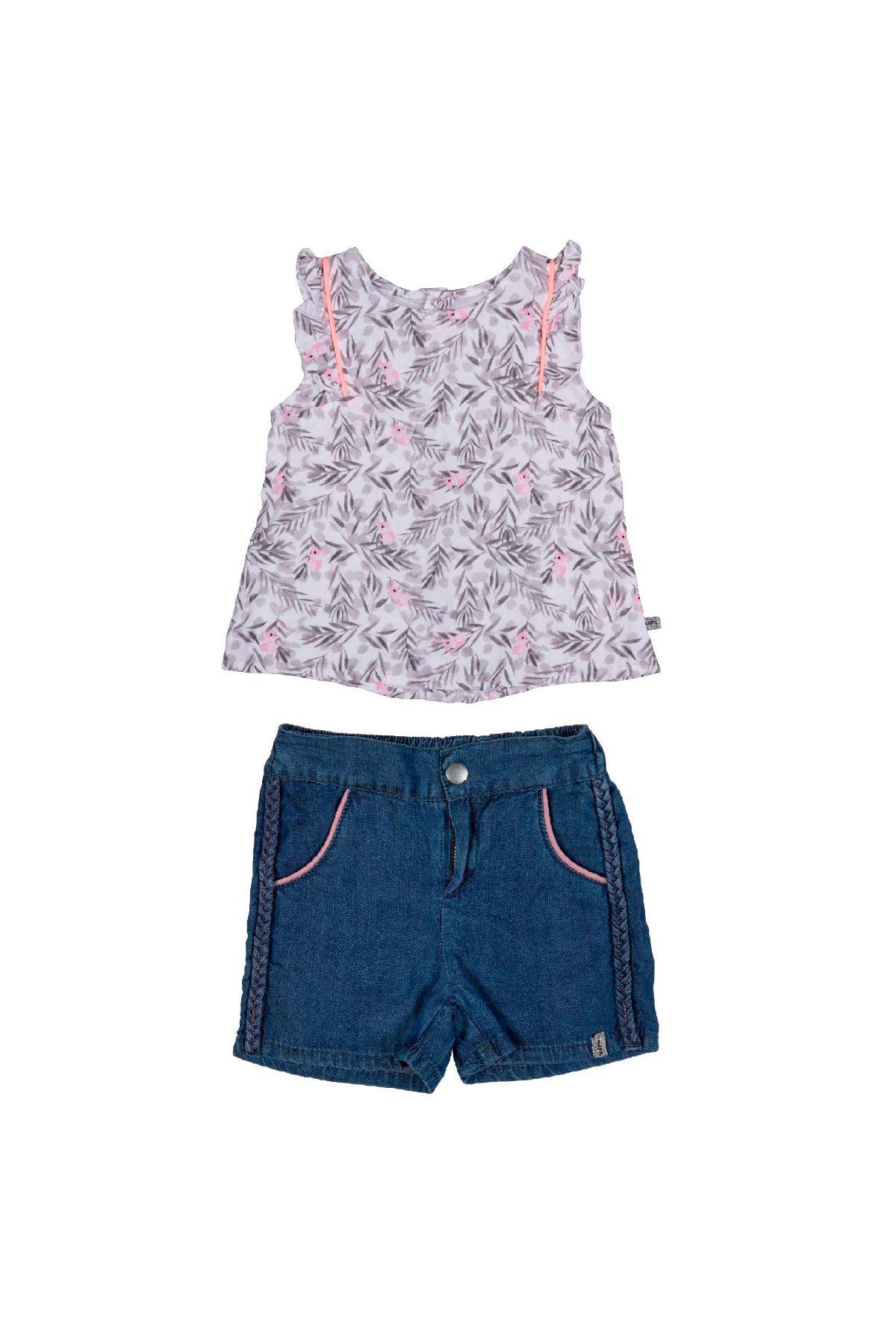 Bebepan 3955 СЕРЫЙ Детский костюм для девочек