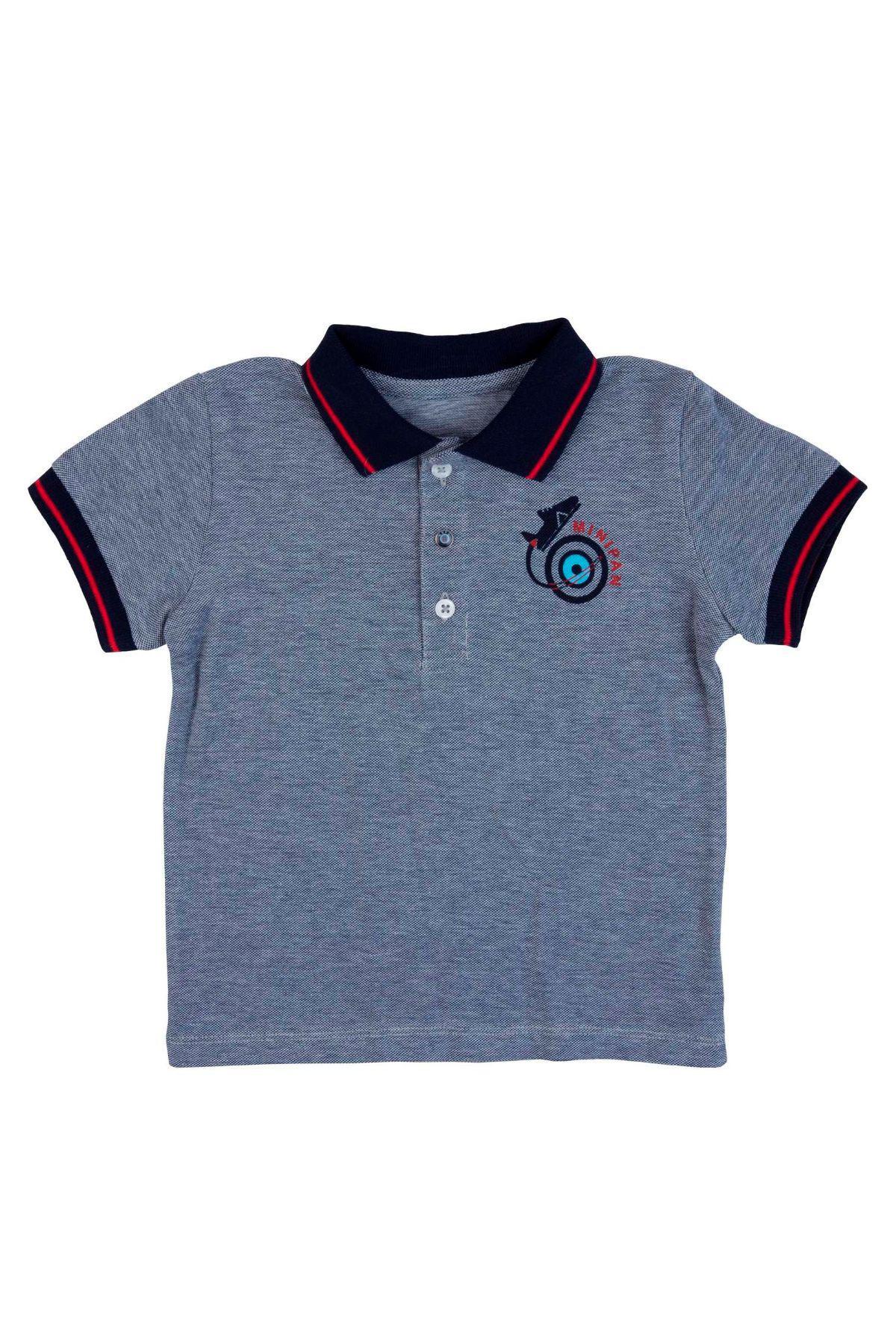 Bebepan 3552 ТЕМНО-СИНИЙ Детская футболка для мальчиков