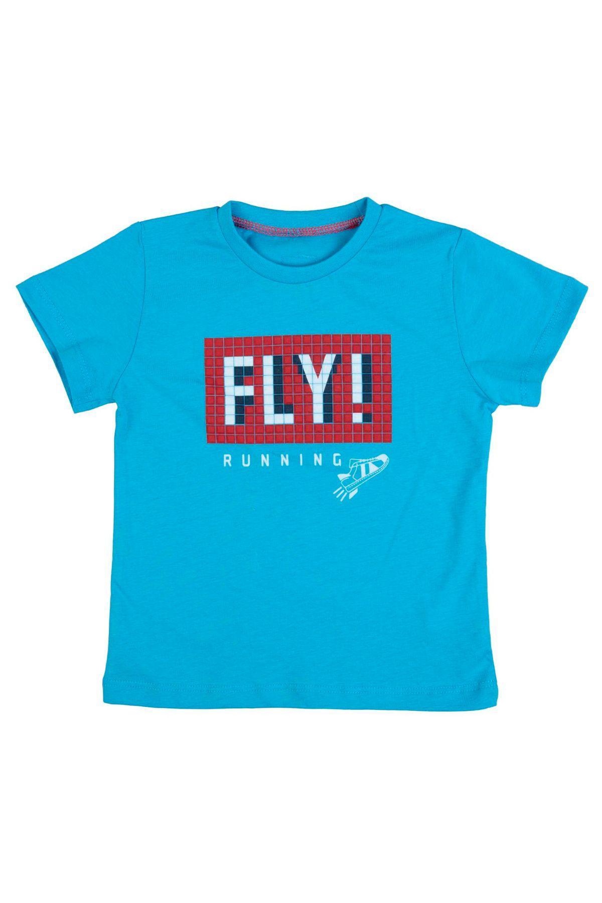 Bebepan 3550 СИНИЙ Детская футболка для мальчиков