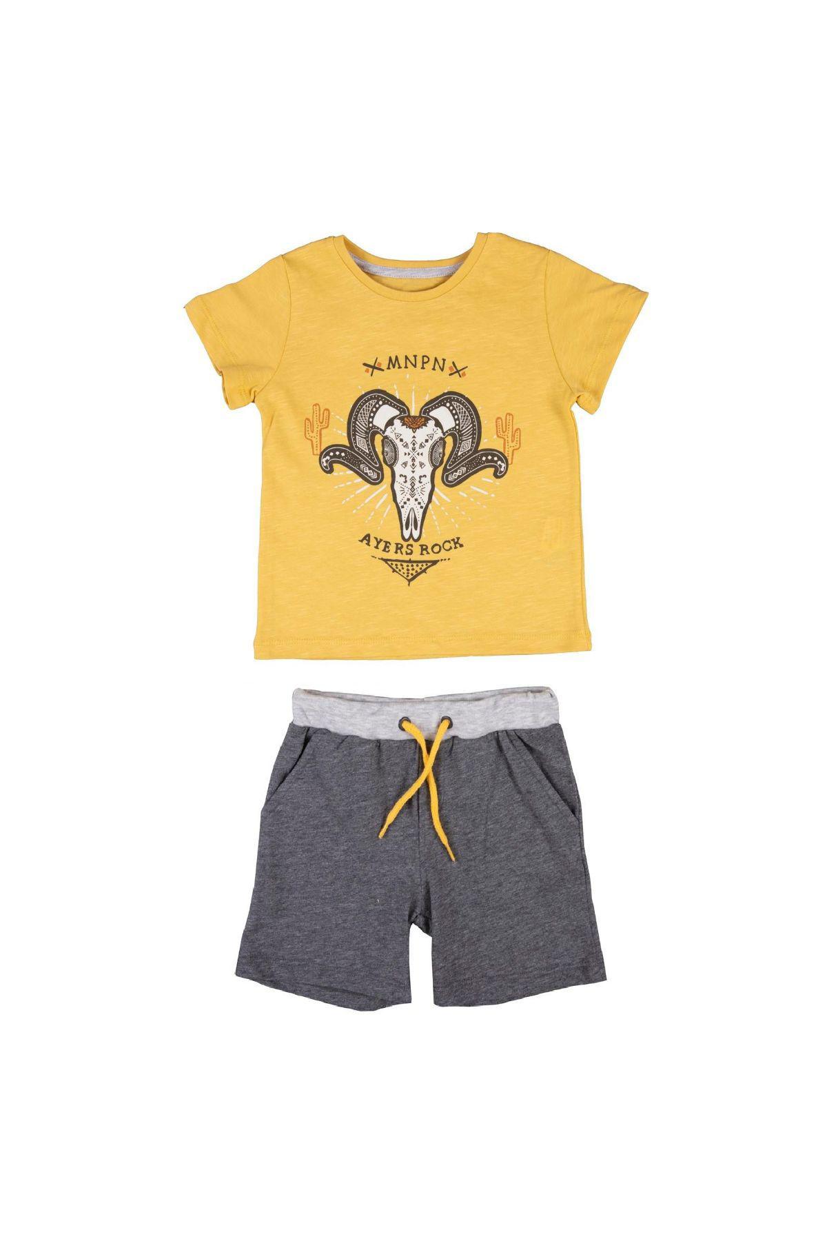 Bebepan 3836 ЖЕЛТЫЙ Детский костюм для мальчиков