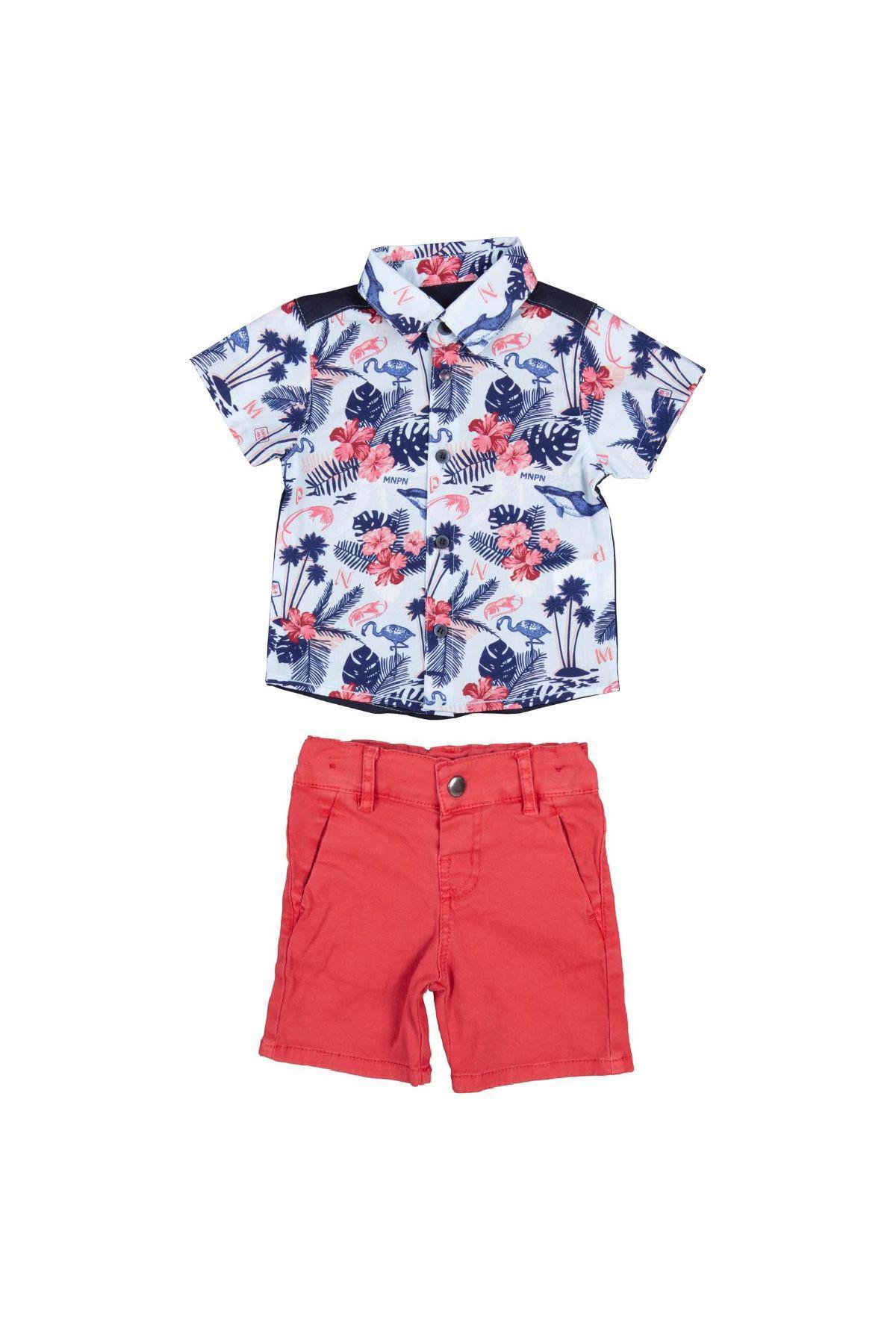Bebepan 3885 КРАСНЫЙ Детский костюм для мальчиков