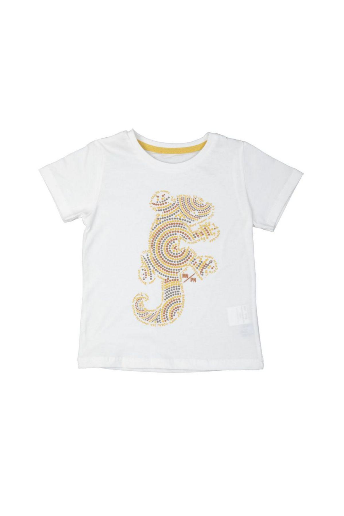 Bebepan 3827 БЕЛЫЙ Детская футболка для мальчиков