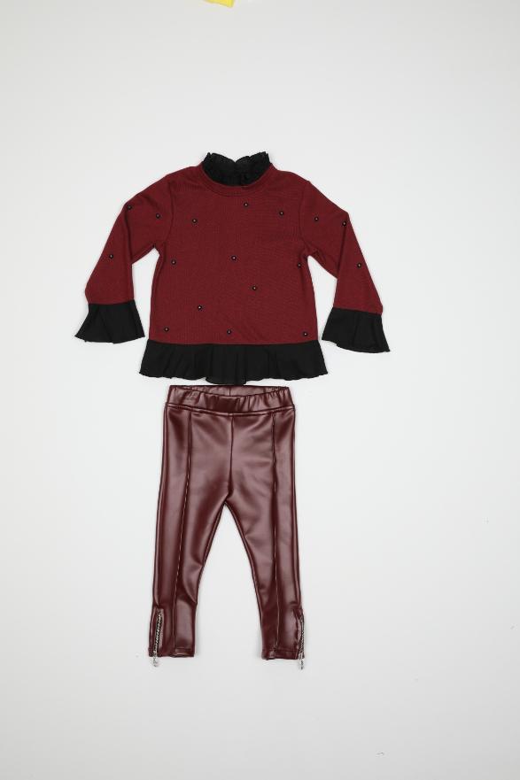 Maia Kids 10333 БОРДОВЫЙ Детский костюм для девочек