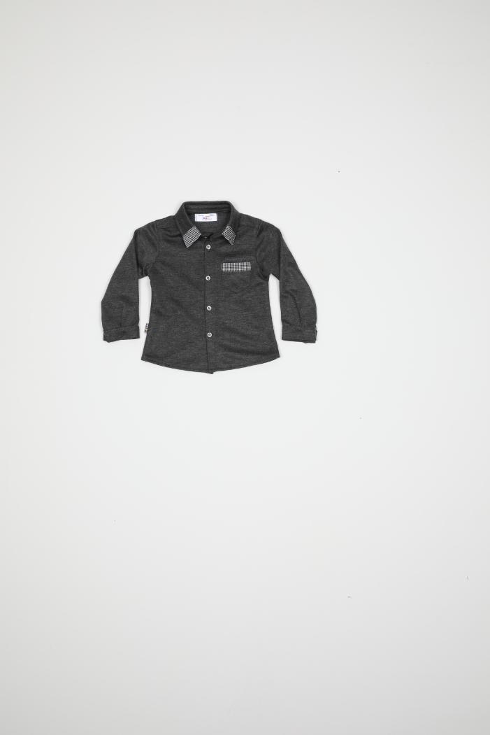 Maia Kids 9934 АНТРАЦИТ Детская рубашка