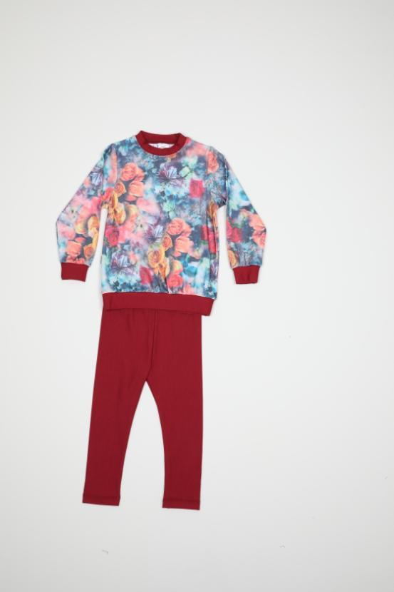 Maia Kids 9887 БОРДОВЫЙ Детский костюм для девочек
