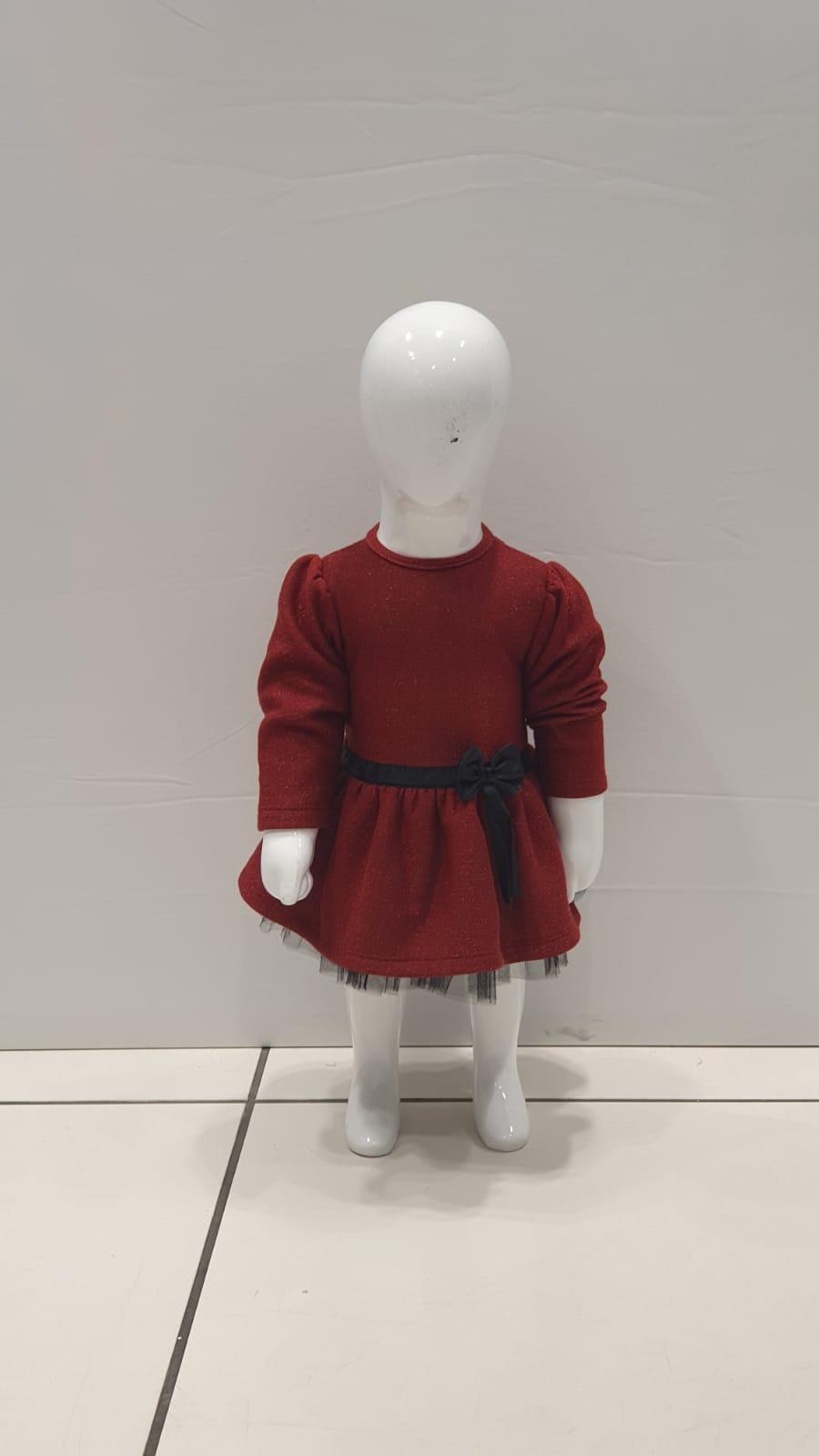 Maia Kids 10334 БОРДОВЫЙ Платье Для Девочек