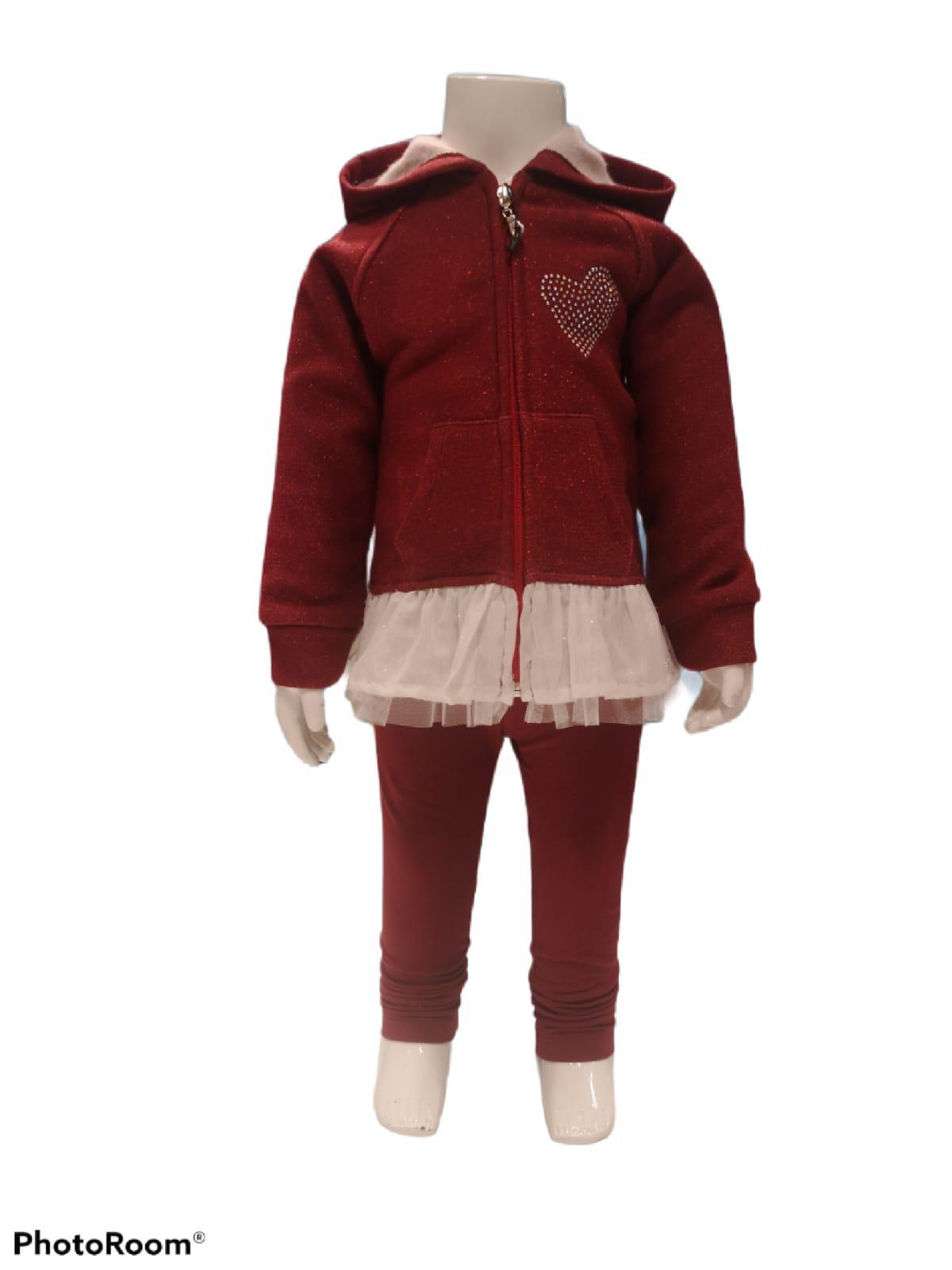 Maia Kids 10209 БОРДОВЫЙ Детский костюм для девочек