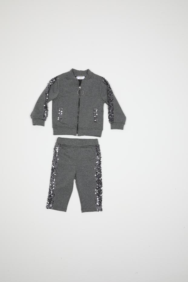 Maia Kids 10349 СЕРЫЙ Детский костюм для девочек