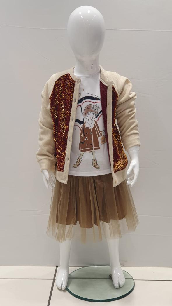 Maia Kids 10326 ЭКРЮ Детский костюм для девочек