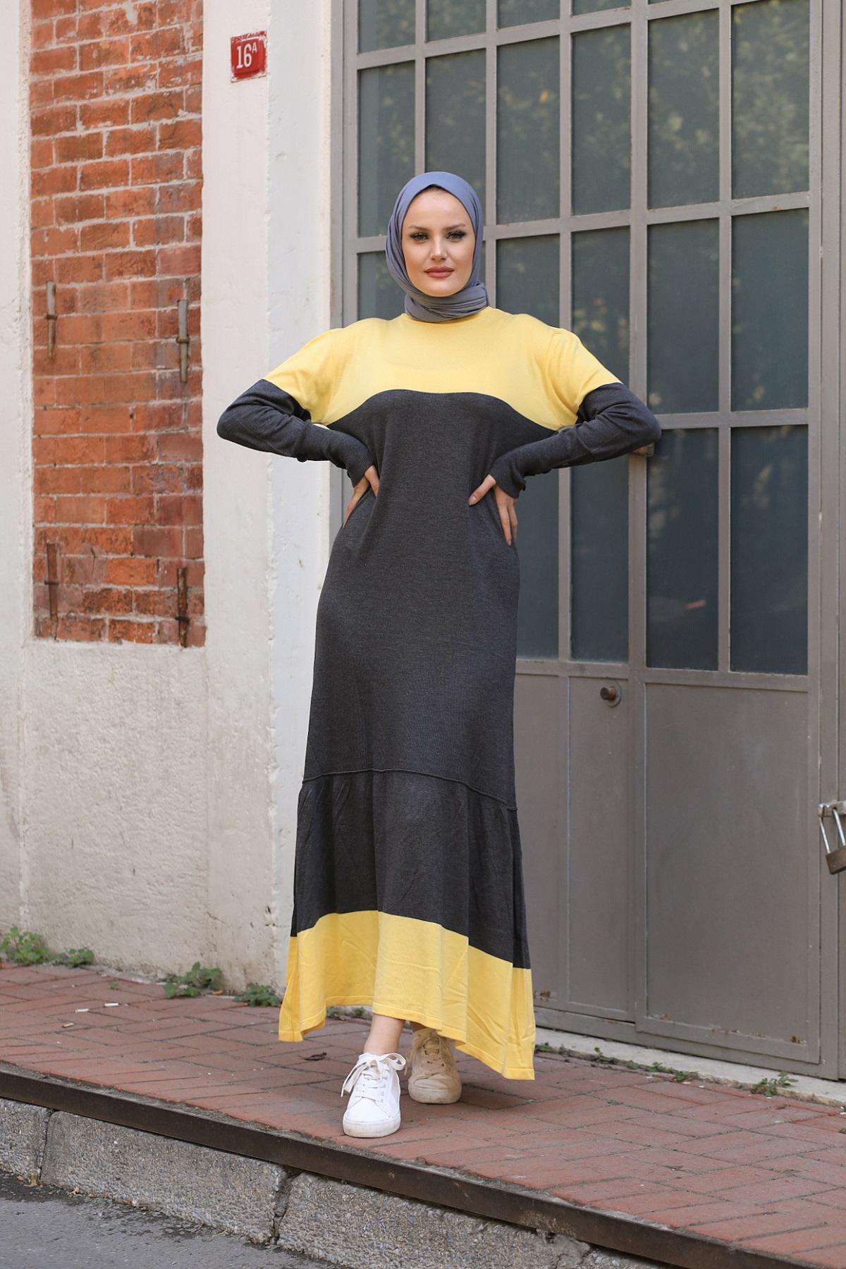 QIMENE 9307 АНТРАЦИТ Женское Платье