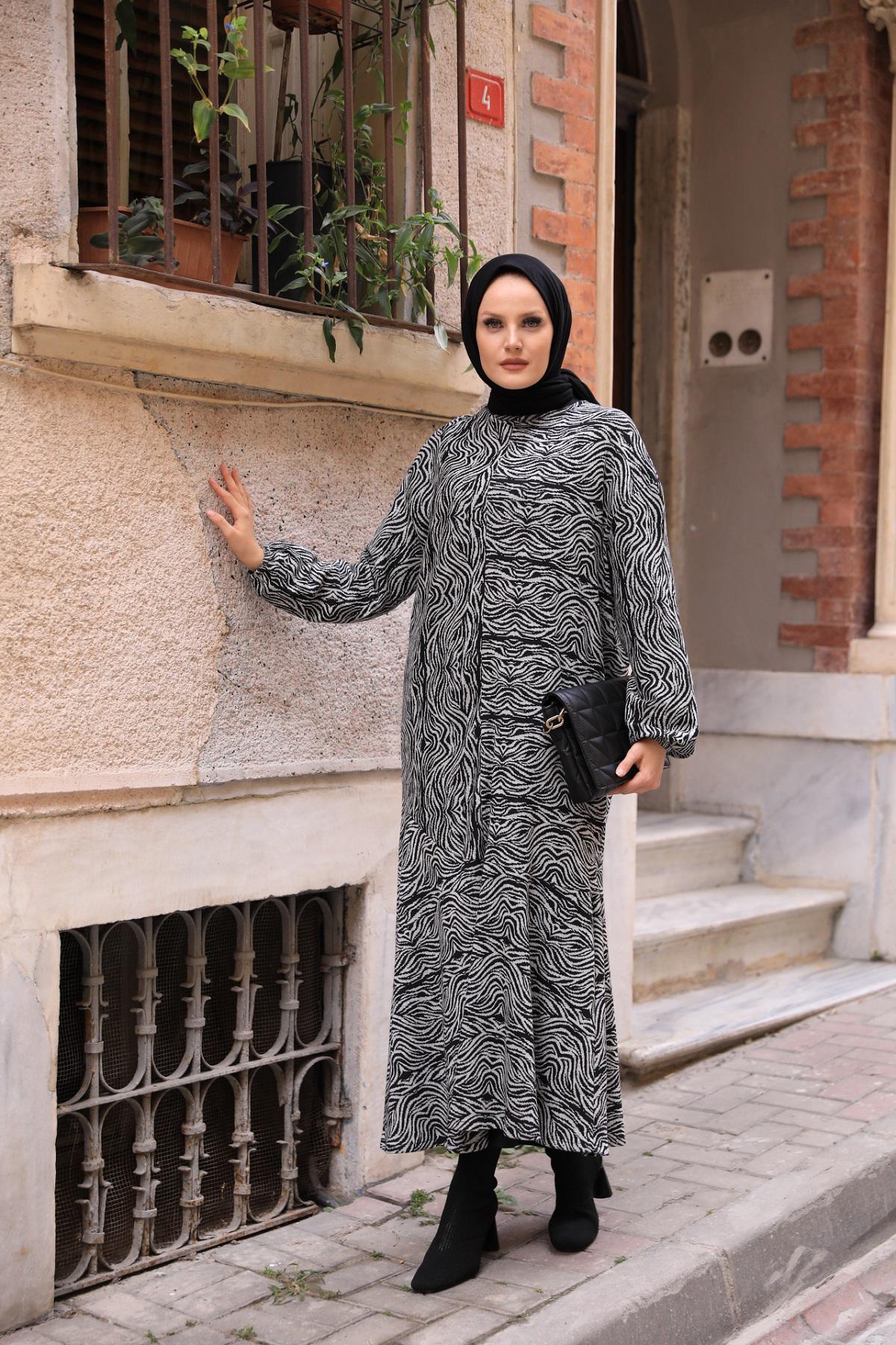 QIMENE 3003 СЕРЫЙ Женское Платье